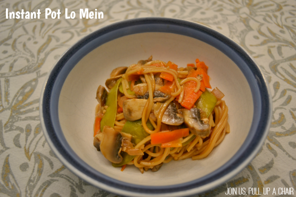 Instant Pot Lo Mein | Join Us, Pull up a Chair
