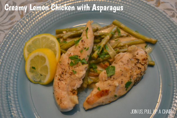 Creamy Lemon Chicken with Asparagus | Join Us, Pull up a Chair