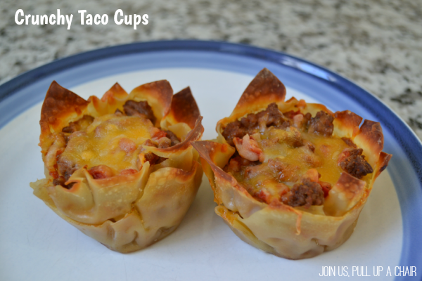 Crunchy Taco Cups | Join Us, Pull up a Chair